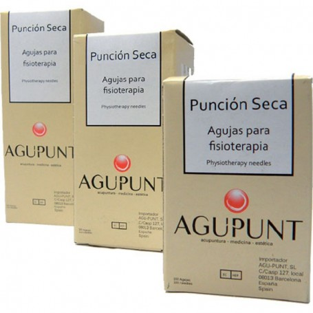 AGUJAS PUNCION SECA CON GUIA 100UDS 0,25X40MM.